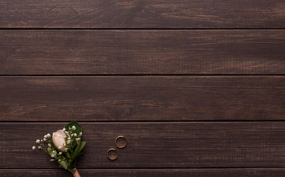 Wedding background for text and advertisement on wood