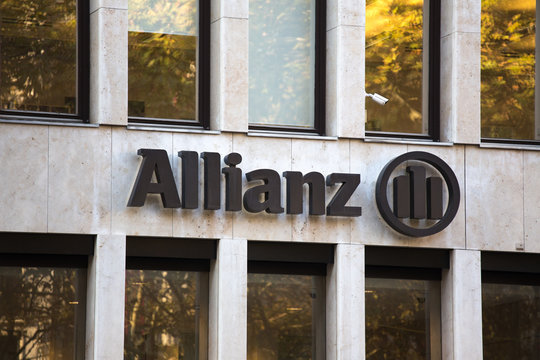 cologne, North Rhine-Westphalia/germany - 17 10 18: allianz sign in cologne germany