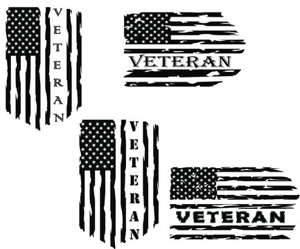 Distressed American veteran flag