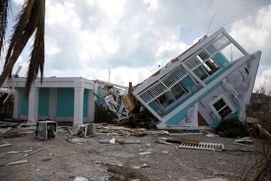 A devastated house is seen after Hurricane Dorian hit the Abaco Islands in Treasure Cay