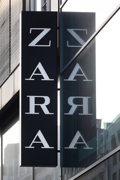 cologne, North Rhine-Westphalia/germany - 17 10 18: zara sign on an building in cologne germany