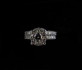 Diamonds over black