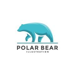 abstract bear logo - vector illustration of design on a light background