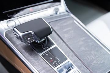 Detail of modern car interior, Luxury car.