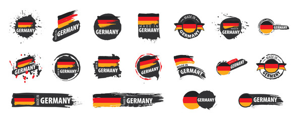 Germany flag, vector illustration on a white background Fototapete