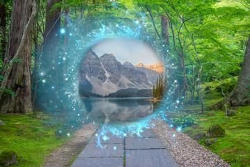 Magical portal in between two realities