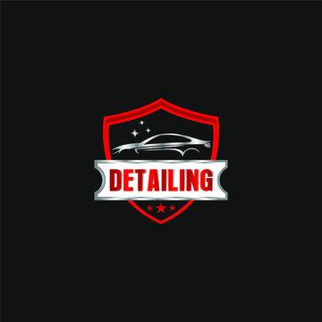 Car detailing logo - modern automotive garage logo