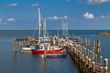 Island of Sylt, Germany. The harbor of Rantum.