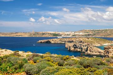 Fototapete - Comino island landscape