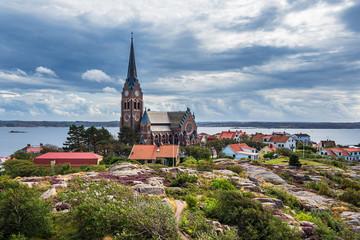 Fototapete - Blick auf die Stadt Lysekil in Schweden