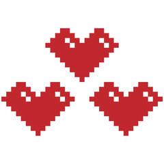 Wall Murals Pixel heart vector graphic clipart