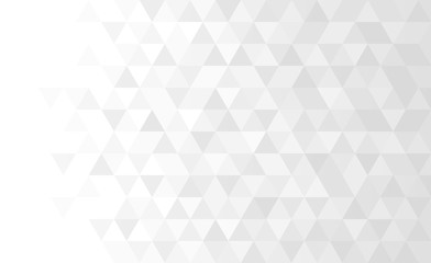 Abstract geometric low poly background. Vector gray triangular mosaic pattern. Wall mural
