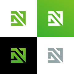 Initial Letter DN or DV Logo Set, Monogram Logo Template - Vector