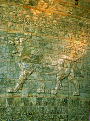 decorated persian wall