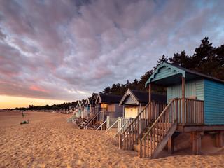 Beach Hut Row Sunrise