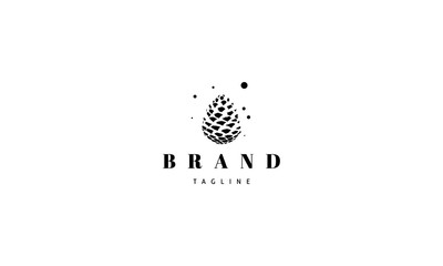 Vector logo with an abstract image of a pine cone. Wall mural