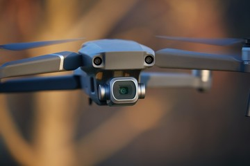 Camera drone in flight closeup outdoor flying Wall mural