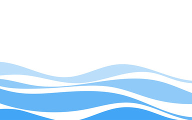 In de dag Abstract wave Blue lines wave concept design vector abstract background
