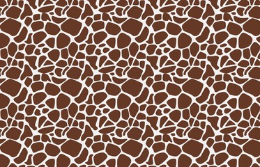 Giraffe seamless pattern on white background
