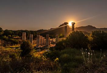 Temple of Artemis night long exposure star shoot