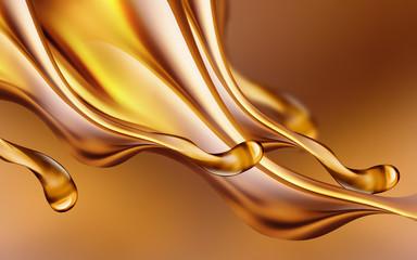 Oil splashes close-up