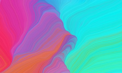 curved lines waves with turquoise, medium orchid and mulberry  colors. modern illustration can be used for canvas, poster, graphic or wallpaper