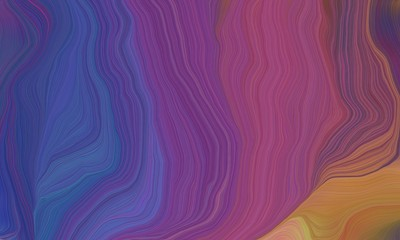 old lavender, antique fuchsia and peru colored and curved lines effect. modern dynamic background and creative wallpaper art drawing