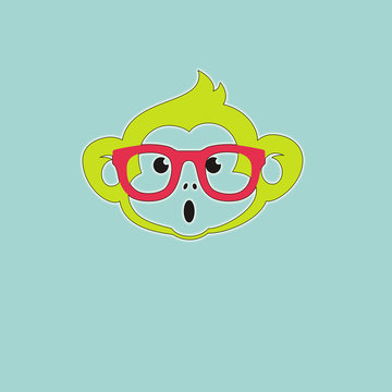 Monkey smiley face