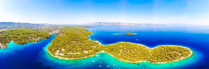 Aerial view of the Hvar island in Croatia Fototapete