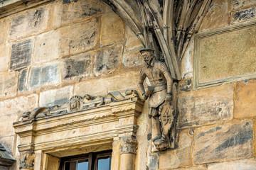 Wall Mural - Figur an Fassade der Alten Hofhaltung in Bamberg