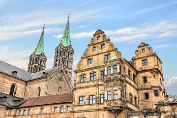 Wall Mural - Historisches Bamberg - Alte Hofhaltung und Dom, Deutschland