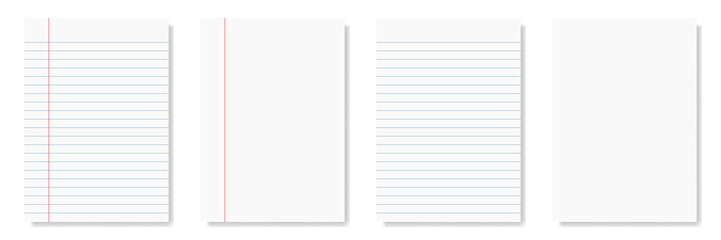 notepad and notebook isolated on white for pattern and design