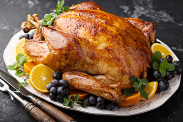 Whole roasted turkey for Thanksgiving