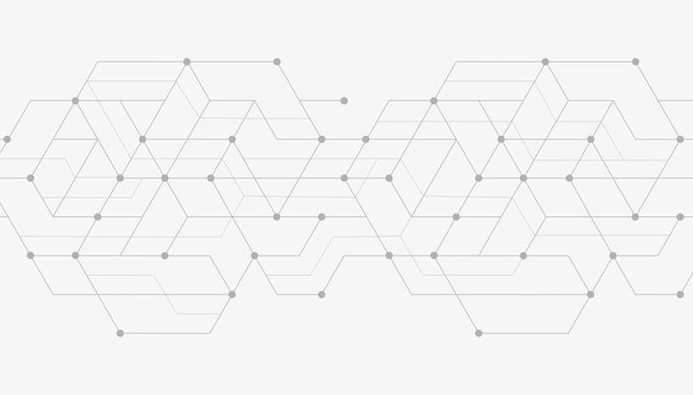 Abstract geometric lines. Concept with lines and dots. Minimalistic Design.