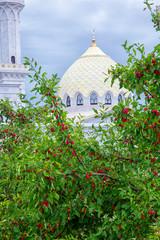 BULGAR, RUSSIA - AUGUST 10, 2019: White Mosque.