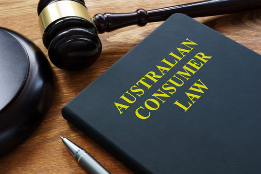 Australian consumer law book in the court.