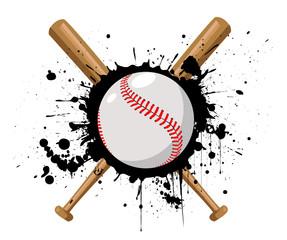 Baseball vector illustration with baseball bat