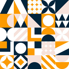 Abstract seamless pattern. Vector colorful geometric tile background.