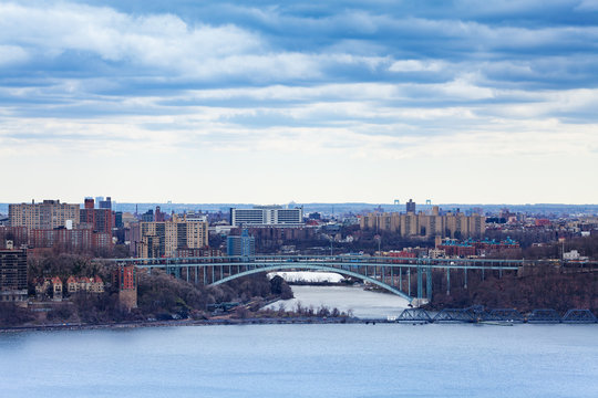 Henry Hudson Bridge, Bronx from Englewood Cliffs