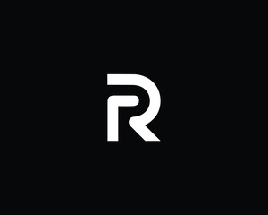 Creative and Minimalist Letter R RR Logo Design Icon | Editable in Vector Format in Black and White Color