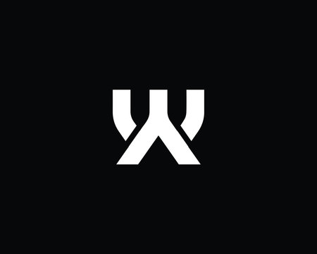 Creative and Minimalist Letter WY YW Logo Design Icon | Editable in Vector Format in Black and White Color
