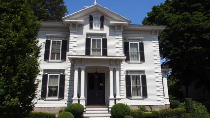 USA, Vermont: historische Häuser mit Holzfassade