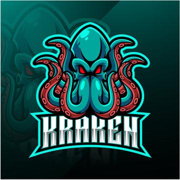 Kraken octopus sport mascot logo design