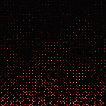 Red repeating abstract dot pattern background - vector graphic