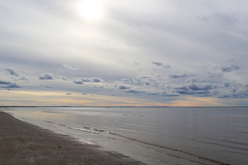 White sea. Severodvinsk. The Island Of Yagry. Autumn day by the sea