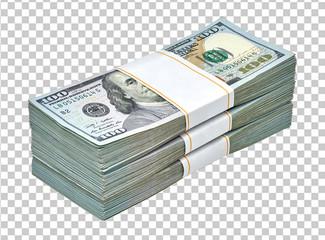 New design dollar bundle on checkered background
