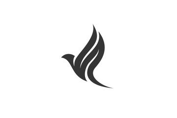 Flying Wings Bird Logo abstract design vector template