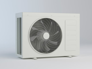 Air Conditioner Unit, compressor - 3D illustration