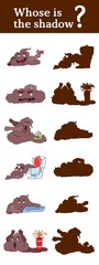 guess the shadow game poop monsters fool around