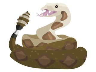 rattlesnake animal cartoon drawing for the holiday